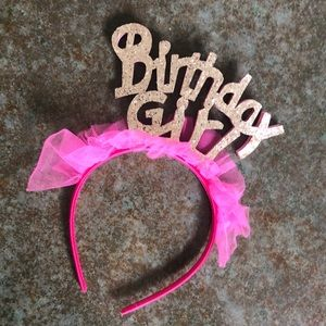 Accessories - Birthday Girl Headband, bright pink, tutu